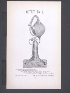 1886 DAVIS ROCHESTER DENTAL MANUFACTORY Chloroform Gas Dispenser