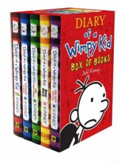DIARY OF A WIMPY KID BOXED SET 1   5 books Jeff Kinney NEW Hardcover