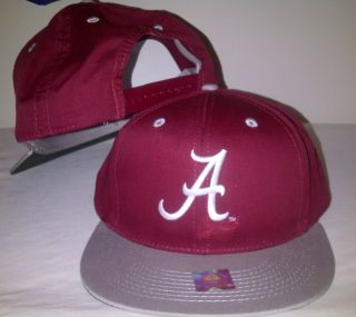 ALABAMA CRIMSON TIDE Snapback Burgundy Cap Hat Licensed NCAA Two Tone