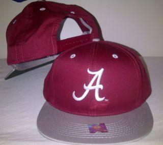 ALABAMA CRIMSON TIDE Snapback Burgundy Cap Hat Licensed NCAA Two Tone