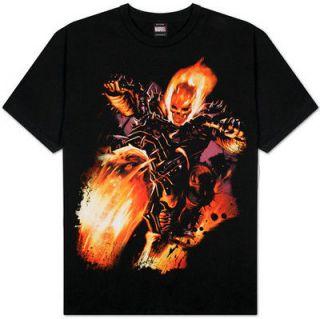 Ghost Rider Fire Freak Mens Marvel T Shirt Official Licensed Marvel