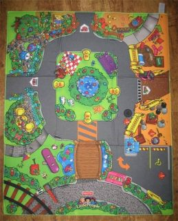 Fisher Price Little People TOWN PLAY MAT Farm Construction Site