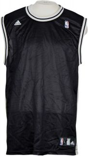 NBA San Antonio Spurs Adidas Blank Replica Jersey  Black  100%