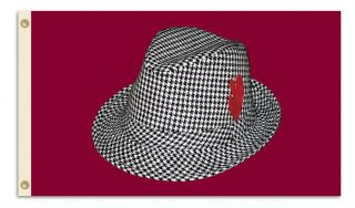 Alabama Tide 3x5 Flag Banner TRADITION Bear Bryant Houndstooth Hat
