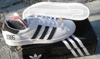 Adidas Originals Mens RUN DMC JMJ Superstar 1986 Shoes White Black