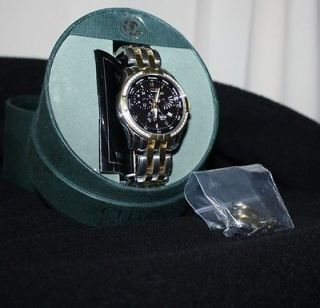 Mens Citizens Eco Drive Watch E870 Diamond Stainless Steel Two Tone