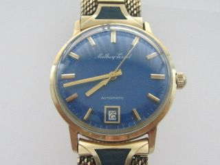 MATHEY TISSOT AUTOMATIC 10KT GOLD FILLED VINTAGE MENS WRIST WATCH