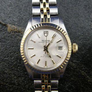 Rolex TUDOR Princess Oysterdate Ladies Watch  Stainless Steel & Gold