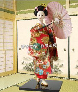 Oriental Broider Doll, figurine Japanese geisha dolls statueH062