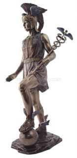 NEW! Hermes Greek God Mythology Bronze Statue Figure