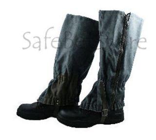 Swiss Army Military Issue Wool Gaiters w/Zipper Waterproof SLIGHTLY