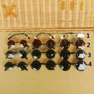 Lens Sunglasses 50s Round Frame Shades John Lennon Clear Glasses New