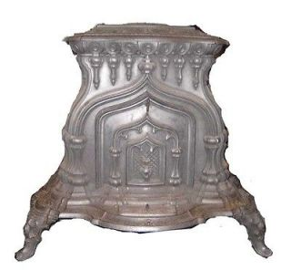 American Cast Iron Parlor Stove 1852 Johnson Cox & Fuller Troy NY