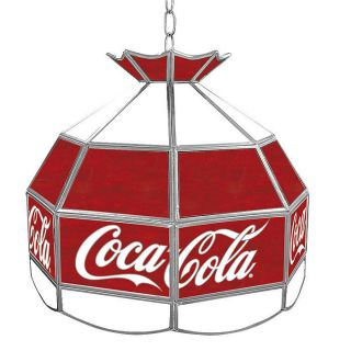 Licensed   Coca Cola® Stained Glass Tiffany Light   Vintage   16