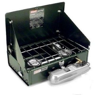 Coleman 2 Burner Dual Fuel Stove 14000 BTU Uses Coleman Fuel or