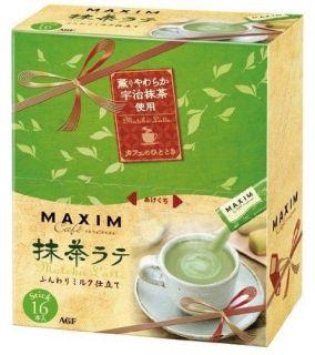 AGF Maxim Uji Matcha Cafe Latte Milk Green Tea Powder 16 Sachets NEW