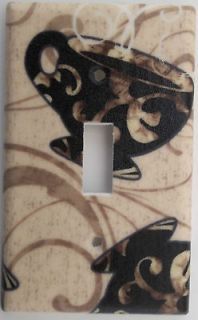 Coffee Cup Mug Cafe Kitchen Light Switch Outlet Plate Cover Wall Decor