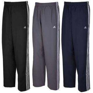 ADIDAS MENS ESSENTIALS SIZE S M L XL BLACK BLUE GREY TRACK PANTS