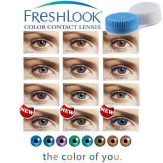 COLOR CONTACT LENSES CASE, COLORED LENSES WEARING CASE