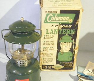 Vintage Coleman 5120 731 Green LP Gas Camp Lantern 6 64 Single Mantle