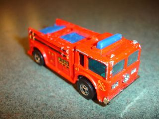 Old Vtg Antique Collectible Diecast Hot Wheels Toy Fire Engine Truck