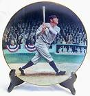 1993 Bradford 22K LE Collector Plate Legends of Baseball BABE RUTH
