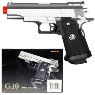 Spring Silver Metal Airsoft Pistol Gun 235fps w/ 6mm BB Air Soft G10