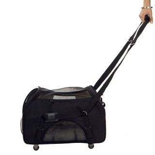 Bergan Pet Dog Cat Wheeled Comfort Carrier Tote Crate Airline Approved