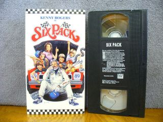 Six Pack KENNY ROGERS DIANE LANE ERIN GRAY ACTION COMEDY VHS TAPE