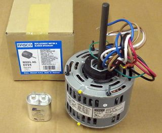 Fasco 1/4 Hp 1075 115 v 3 Speed Furnace Blower Fan Motor w/ Capacitor