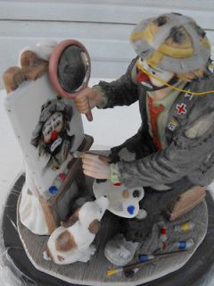 ARTIST AT WORK   Emmett Kelly clown figurine