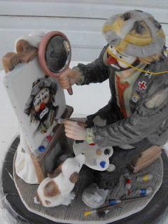 ARTIST AT WORK   Emmett Kelly clown figurine