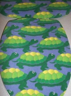 Newly listed TOILET SEAT LID TANK LID COVER TURTLE PURPLE GREEN