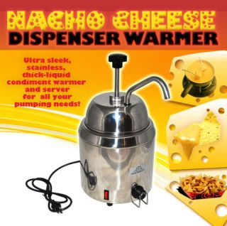 NACHO CHEESE DISPENSER WARMER WITH PUMP WHY BUY USED? OR A SMALLER