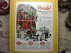 1952 Life Ad Print Presto Pressure Cooker Deep Fryer Americana Art