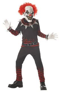 Scary Evil Clown Child Halloween Costume 00335
