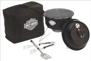 HARLEY DAVIDSON PORTABLE TABLETOP COOKING GRILL NEW TAILGATING
