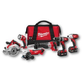 Milwaukee 18V Cordless M18 Lithium Ion 6 Tool Combo Kit 2696 26 NEW