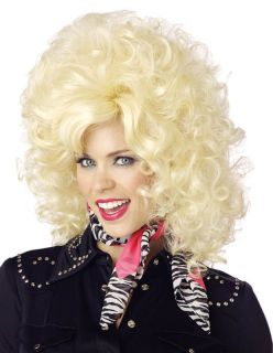 Big Hair Dolly Parton Country Singer Costume Blonde
