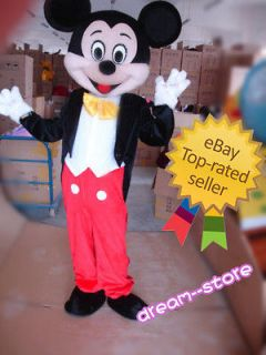 100% Brand New Mickey Mouse Mascot Costume Adult Size★ Fast