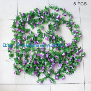 PCS Artificial Flower Silk Rose Vine 6 FT Wedding Garland Home