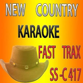 AUGUST 2012 ORIGINAL KARAOKE CD+G FAST TRAX SS C417 COUNTRY SONGS