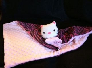 Hello) Kitty Baby Blanket/Securi​ty Minky Dot Pink Fleece Pink Zebra