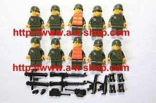 BRICK TOY BATTLEFIELD MILITARY WORLD WAR ARMY TEAM SOLDIER MINI FIGURE