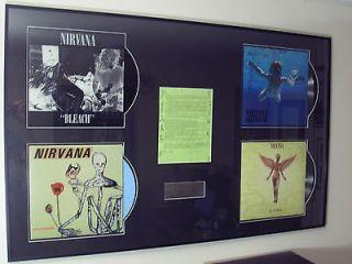 NIRVANA Signed Fan Club News Letter Kurt Cobain Dave Grohl w/ Vinyl