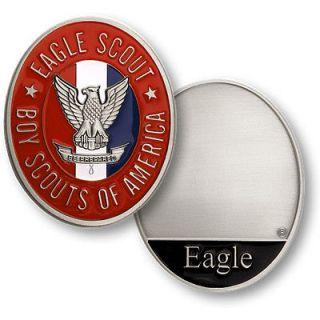 Boy Scouts EAGLE SCOUT MEDALLION Challenge Coin Engravable 79018