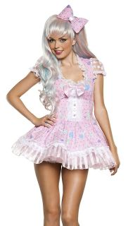 Sexy Pink Candy Girl Adult Candyland Halloween Costume