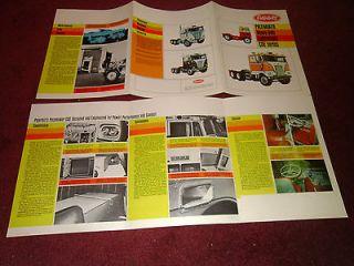 1970 Peterbilt Pacemaker Cabover 352 & 282 Sales Brochure
