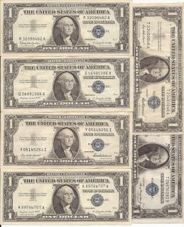 1957 Silver Certificate $1 Dollar Bill nice US collectible currency #5