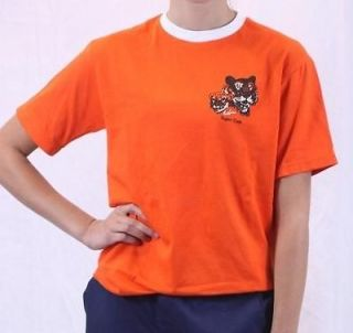 Boys BSA Boy Scouts of America Official TIGER CUB Shirt Orange White
